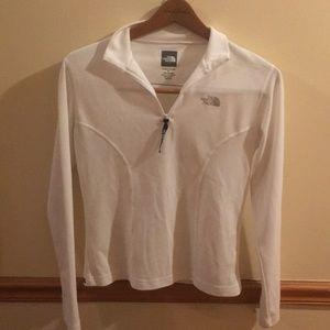 White North Face pullover half zip sweater
